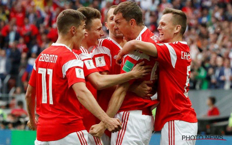 Gastland Rusland wint openingsmatch ruim van zwak Saudi-Arabië