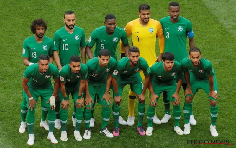 Gezien? Speler Saudi-Arabië speelde met enorme drukfout op shirt (Foto)