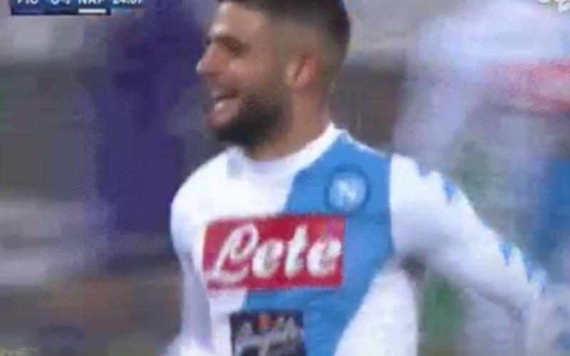 Insigne scoort wereldgoal tegen Fiorentina (Video)