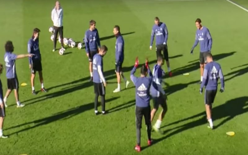 Afgang voor Ronaldo op training van Real Madrid (Video)