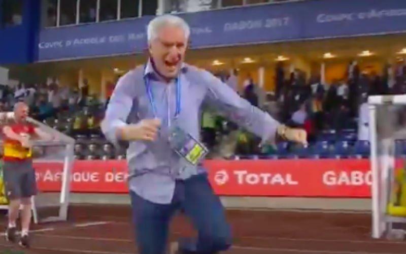 Ongezien: Hugo Broos wordt helemaal gek na enorme stunt op Afrika Cup (Video)