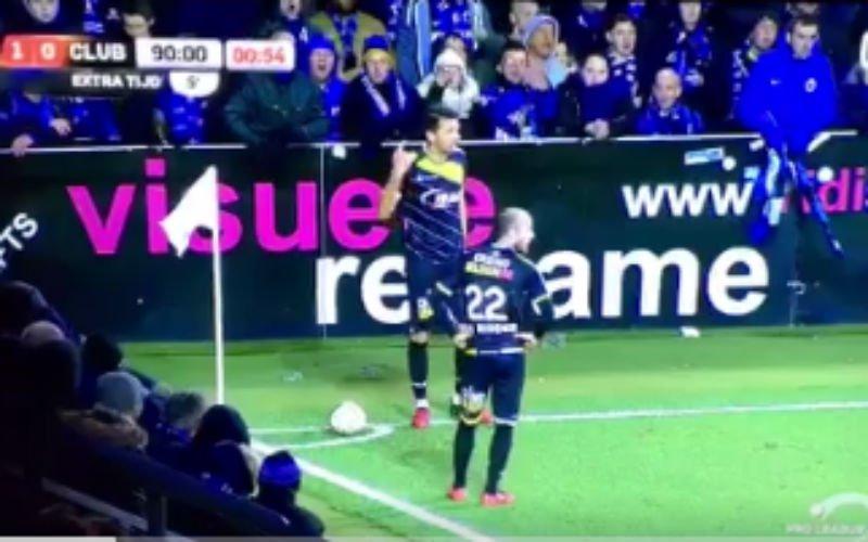 Supporters van Club Brugge vallen helemaal door de mand op Daknam (Video)