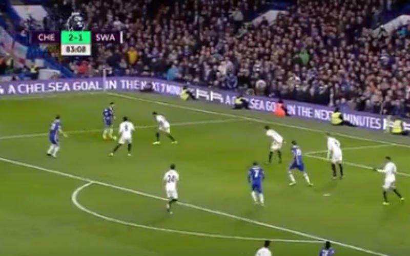 Chelsea-fans worden helemaal gek bij het zien van deze actie van Hazard (Video)