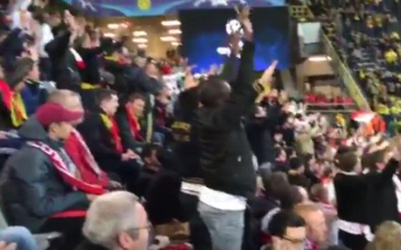 KIPPENVEL! Dit doen de fans van Monaco in stadion van Dortmund (Video)