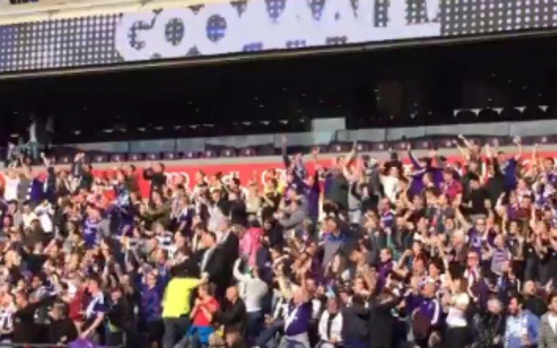 Zo vieren Anderlecht-fans goal van Hanni in eigen stadion (Video)