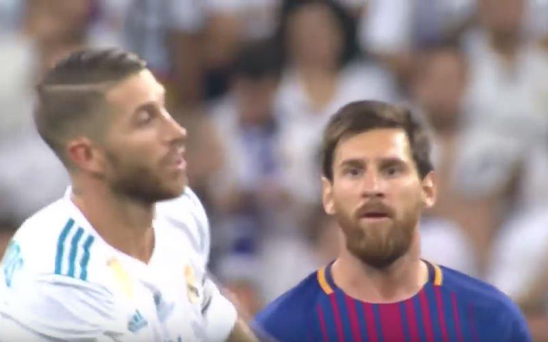 Onthuld: Woeste Messi zei dit tegen Ramos tijdens Super Cup (Video)