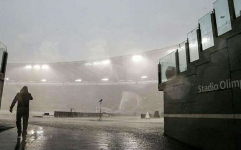 UPDATE: Noodweer teistert Lazio-AC Milan