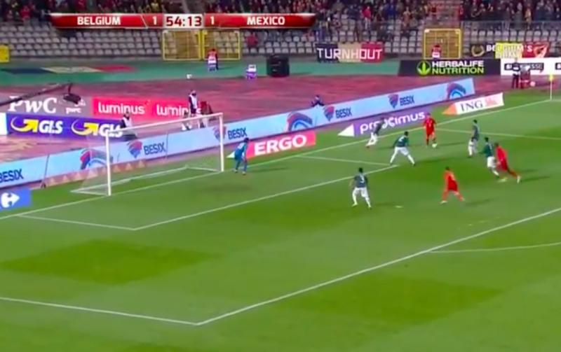 Deze actie van Lukaku tegen Mexico gaat viraal (Video)