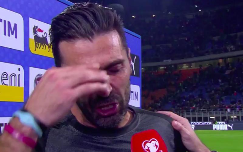 Buffon barst in tranen uit tijdens interview (Video)