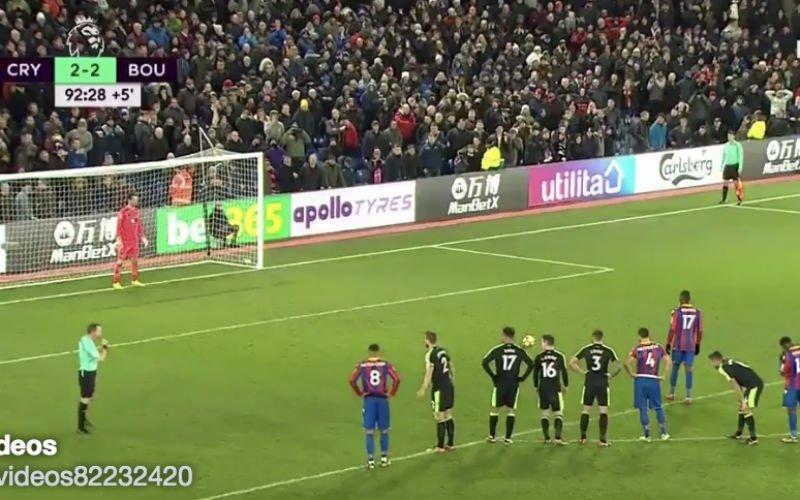 Benteke mist penalty en kijk wat ploegmaat Milivojevic doet (Video)