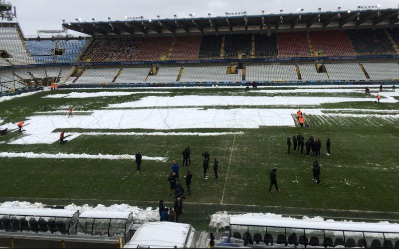 Problemen met veld van Club Brugge na de sneeuw