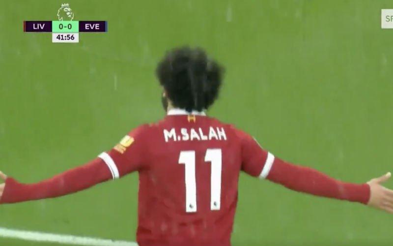Salah pakt uit met deze prachtige goal tegen Everton (Video)
