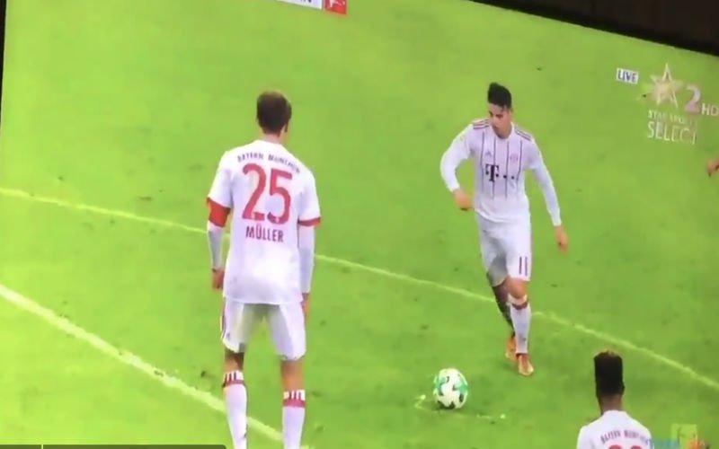 James Rodriguez krult een vrije trap op héérlijke wijze in doel (Video)