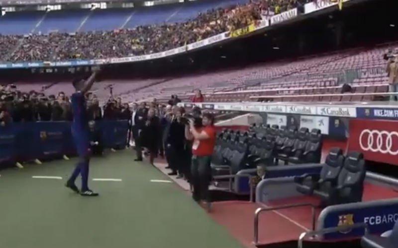 Nieuwste Barça-aanwinst Mina stelt zich op zéér speciale manier voor (Video)