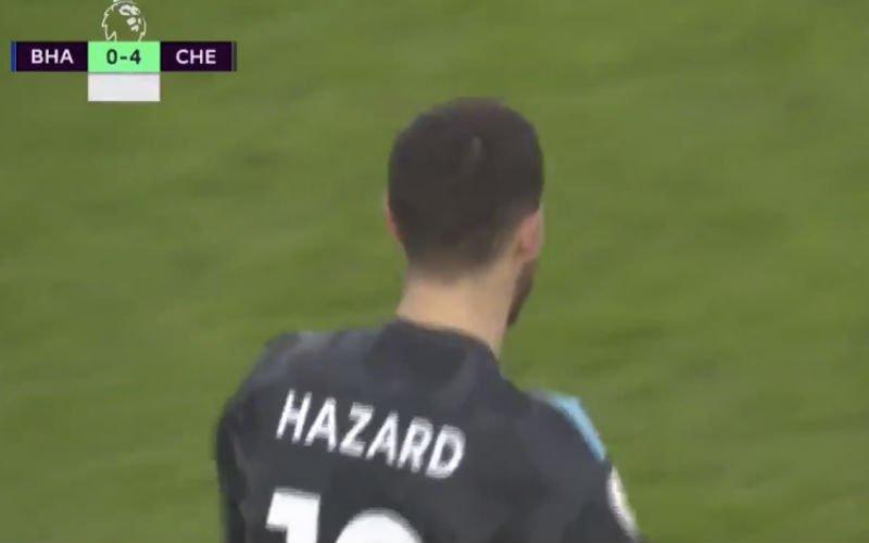 Hazard laat na wedstrijd tegen Brighton zijn hart van goud zien (Video)