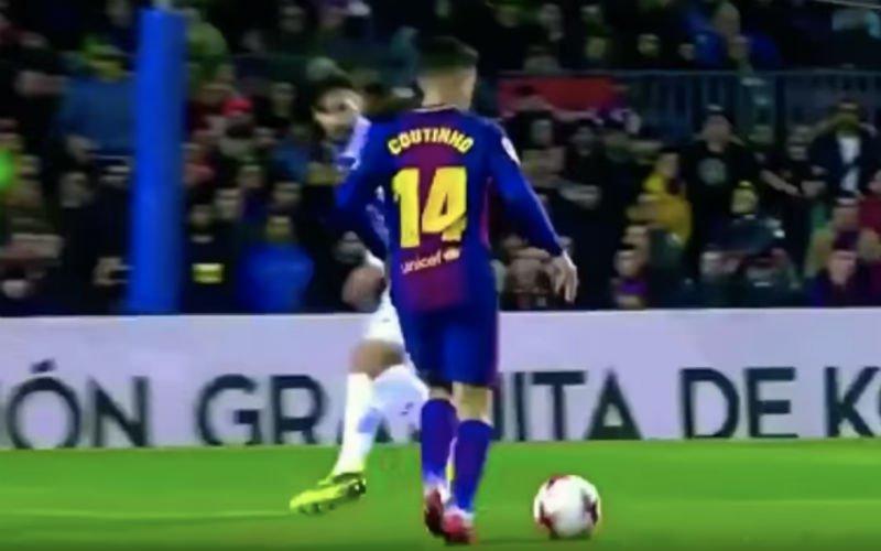 Coutinho pakt meteen uit met deze heerlijke beweging (Video)