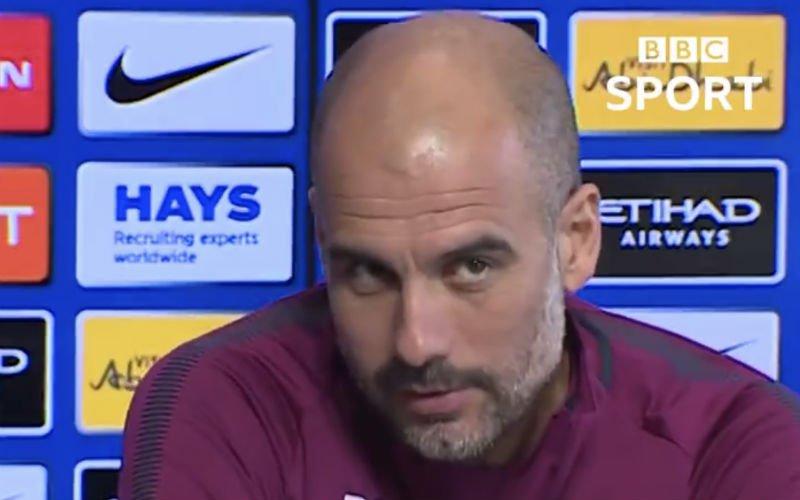 Guardiola maakt spelletje van vragenronde en dolt met journalist (Video)