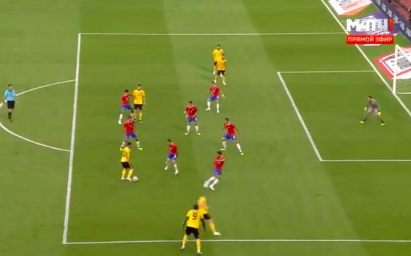 En dan doet Hazard plots dit tijdens België-Costa Rica (Video)