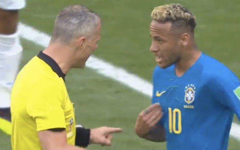 Scheidsrechter Kuipers zet Neymar op geniale manier op zijn plaats (Video)