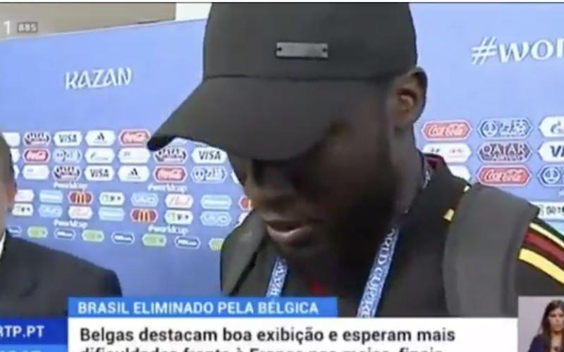 Romelu Lukaku staat Braziliaanse pers vlekkeloos  te woord in het Portugees