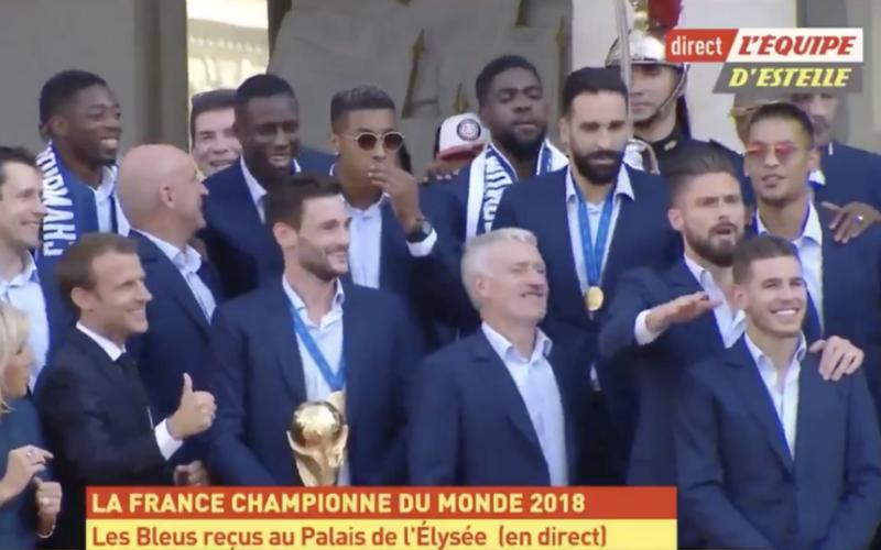 Franse speler maakt Rode Duivels belachelijk tijdens huldiging (Video)