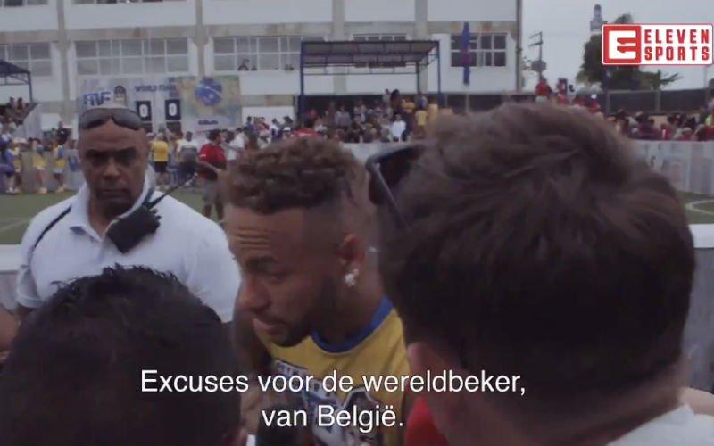 Reporter biedt Neymar excuses aan voor WK-uitschakeling, hij doet dan dit