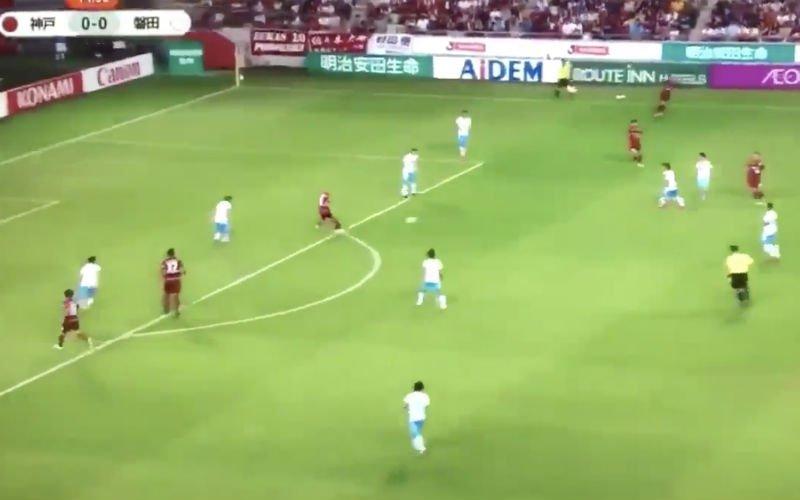 Eerste doelpunt van Iniesta voor nieuwe club is meteen pareltje