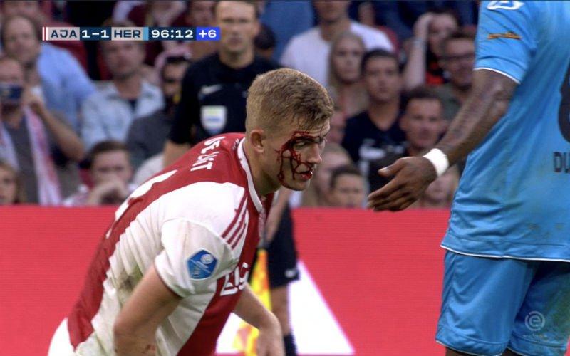 Ajax-speler De Ligt loopt vreselijke blessure op, zijn reactie is geweldig