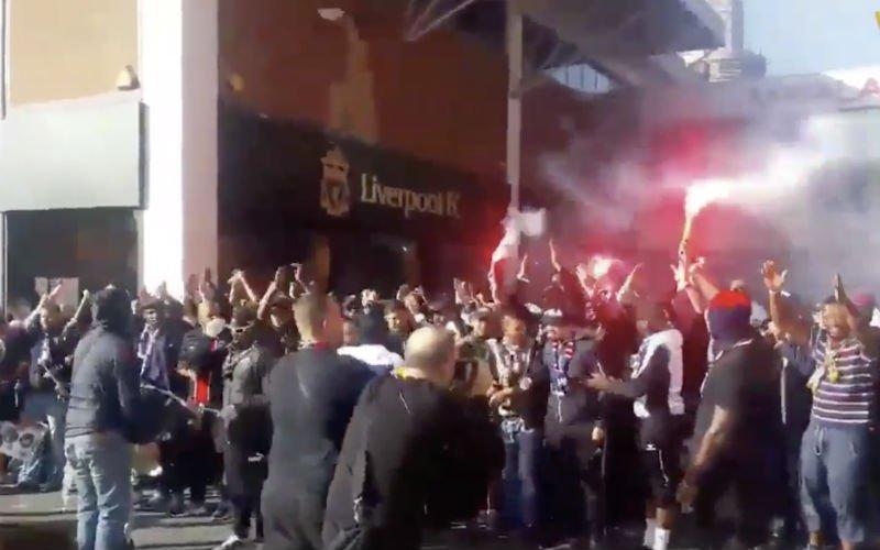 Ultras van PSV nemen straten van Liverpool over