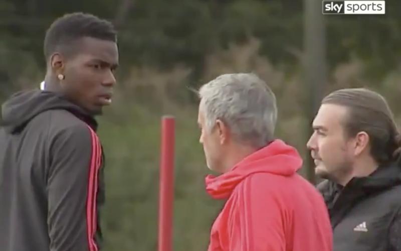 Triest dieptepunt: Pogba en Mourinho op training in de clinch met elkaar