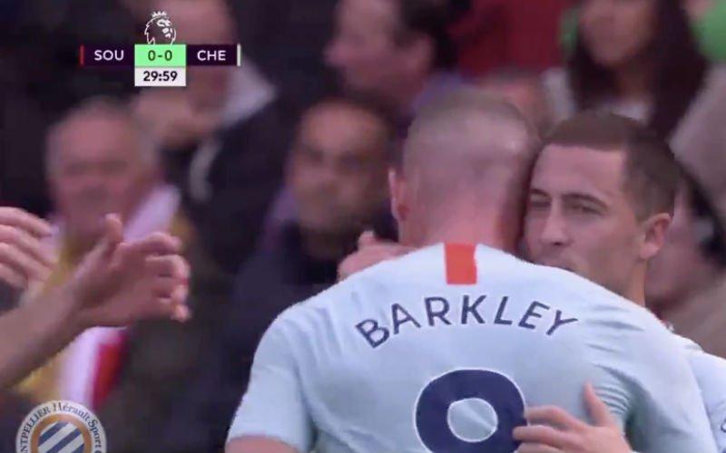 Hazard knalt bal lekker binnen en brengt Chelsea op voorsprong