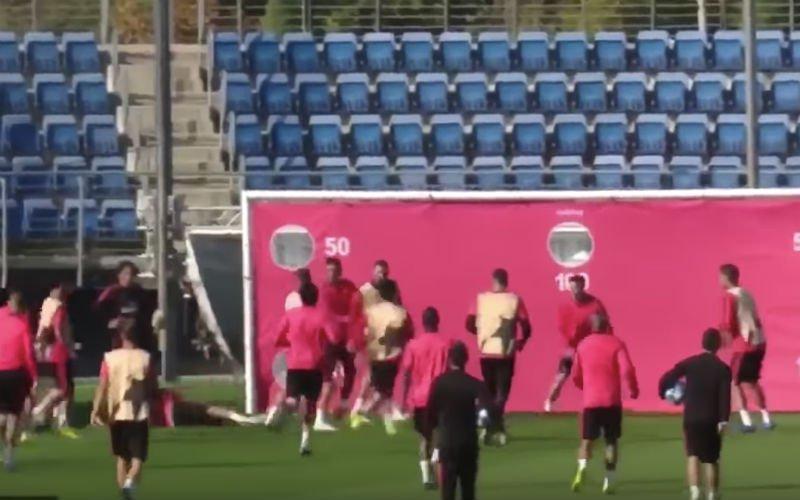 Sergio Ramos gaat volledig door het lint tegen eigen ploegmaat op training (VIDEO)