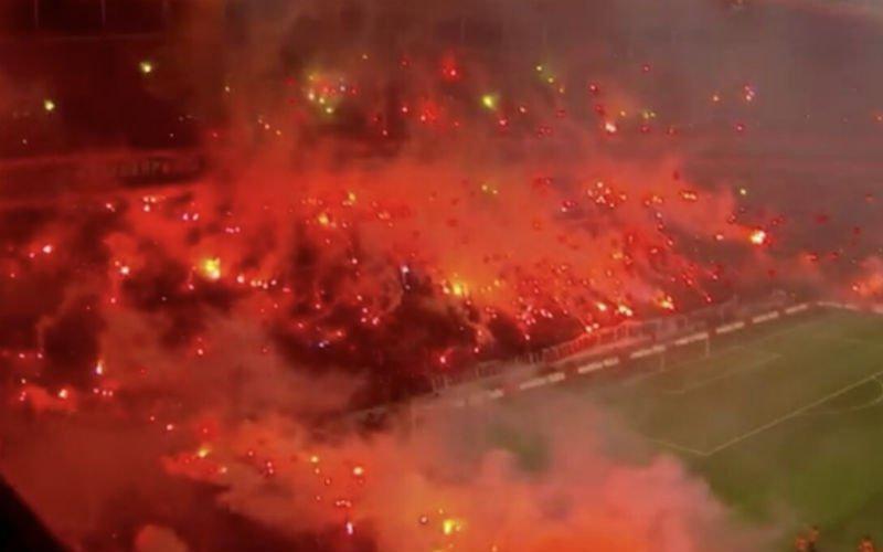 45.000 Galatasaray-fans zetten stadion in brand tijdens afsluitende training (VIDEO)