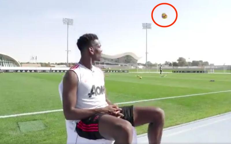 Bal vliegt razendsnel op Pogba af... Die doet dan plots dit (VIDEO)