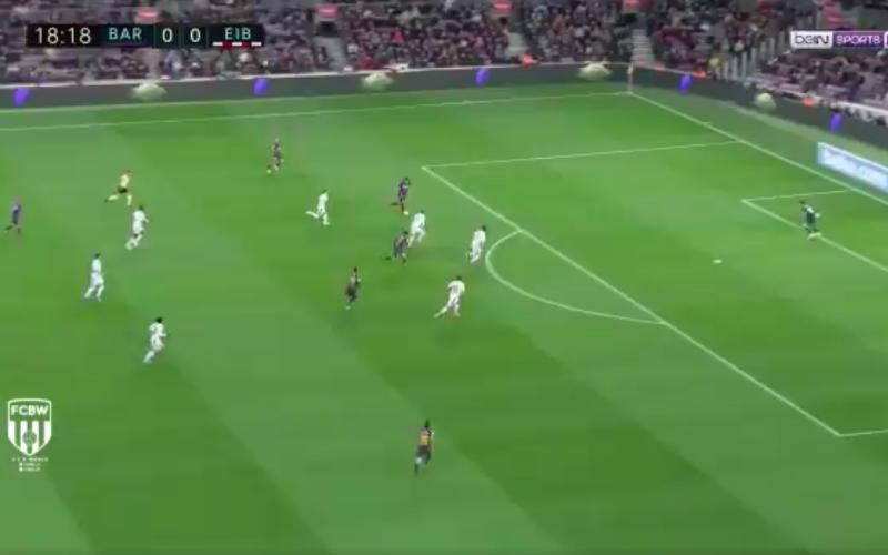 Luis Suarez maakt ongelofelijk doelpunt bij Barcelona (VIDEO)