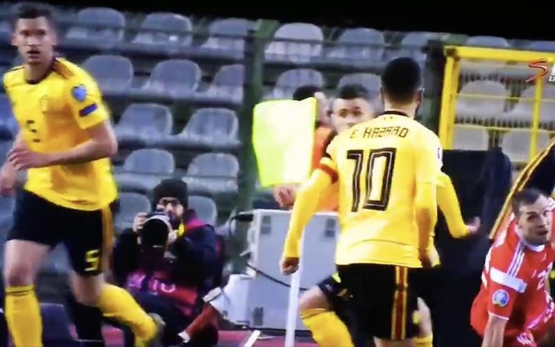 En plots deed Eden Hazard dít tijdens België-Rusland (VIDEO)