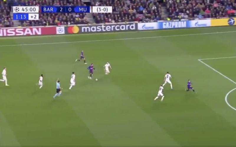 Lionel Messi beëindigt de carrière van Phil Jones (VIDEO)