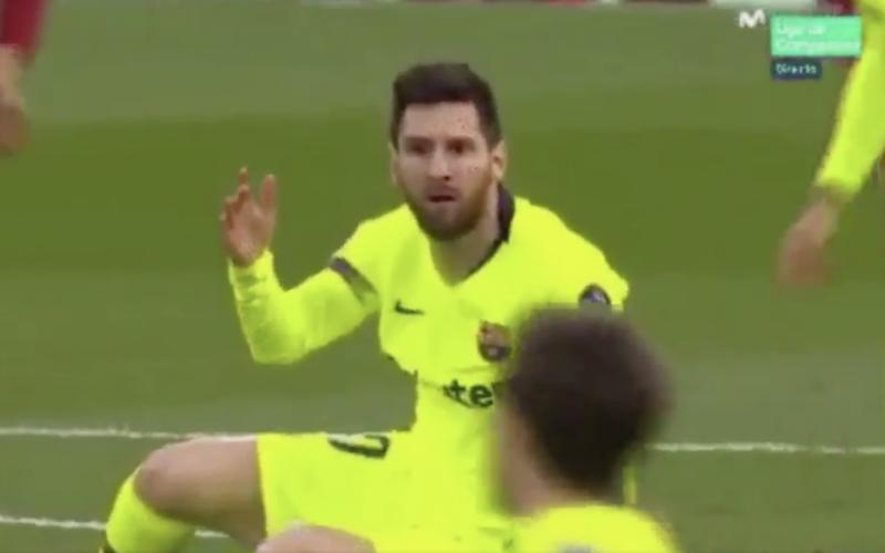 Niemand gelooft wat Messi hier meemaakte tijdens Liverpool-Barça (VIDEO)