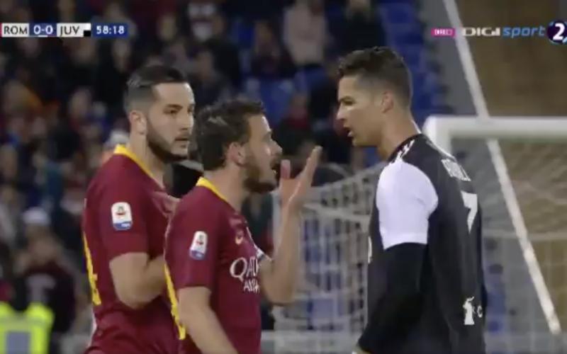 Ronaldo gaat zwaar over de schreef tijdens topper (VIDEO)