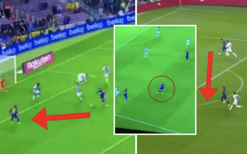 Pijnlijk: Griezmann wordt compleet genegeerd door Suarez en Messi (VIDEO)