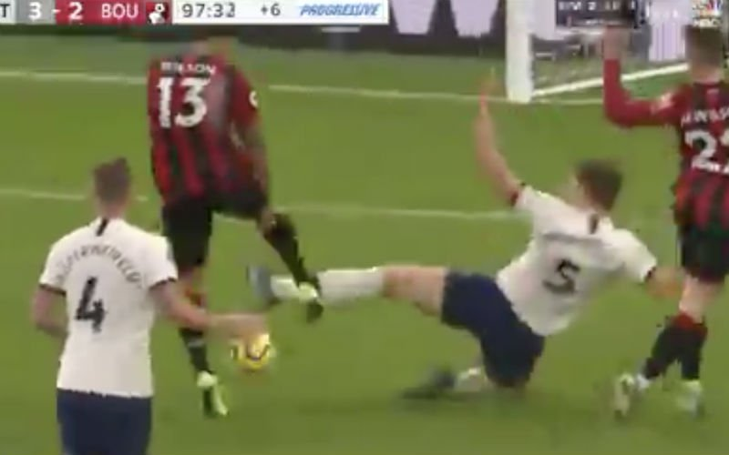 Jan Vertonghen doet dit in 97ste minuut voor ogen van Mourinho (VIDEO)