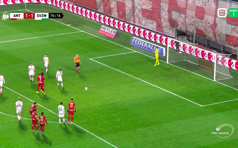 Ingevallen Lamkel Zé eist opnieuw hoofdrol op bij penalty voor Antwerp