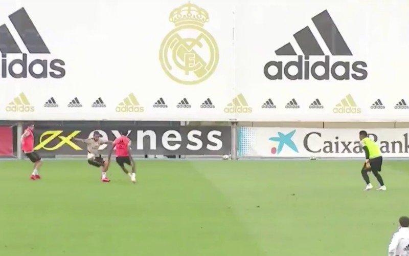 Eden Hazard doet monden openvallen op training bij Real Madrid
