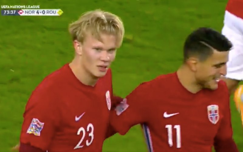 Verbluffende Haaland speelt alles kapot bij Noorwegen (VIDEO)