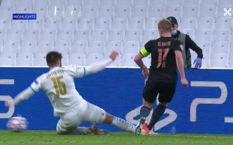 De Bruyne slachtoffer van vreselijke tackle in Champions League (VIDEO)