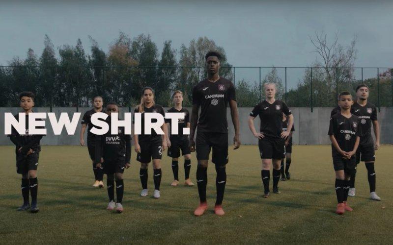 Anderlecht onthult nieuwe wedstrijdshirts voor tegen Antwerp