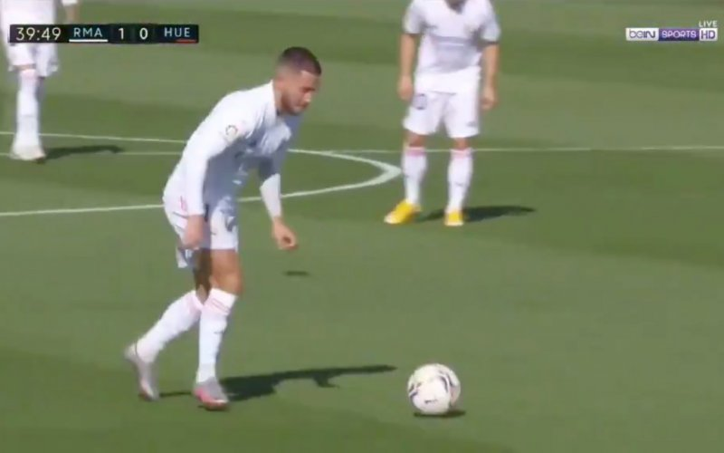 En plots doet Eden Hazard dít bij Real Madrid (VIDEO)
