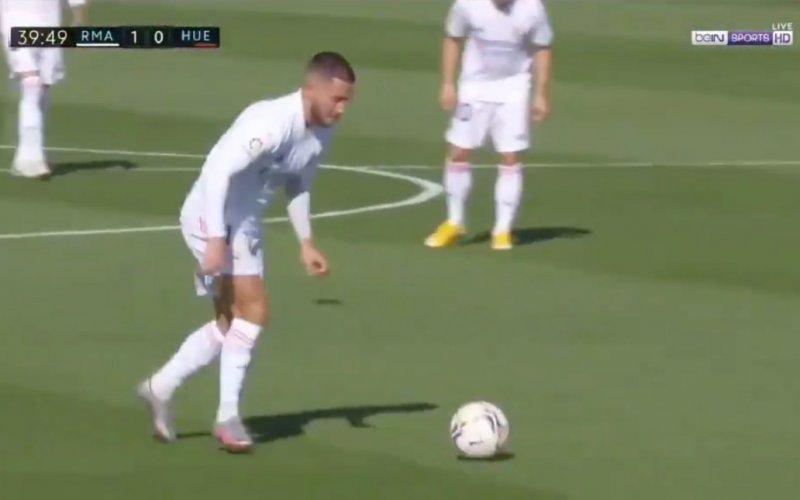 En plots doet Eden Hazard dít bij Real Madrid (VIDEO)