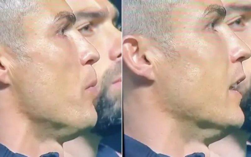 Iederéén heeft het over wat Ronaldo hier doet in Portugal-Frankrijk (VIDEO)