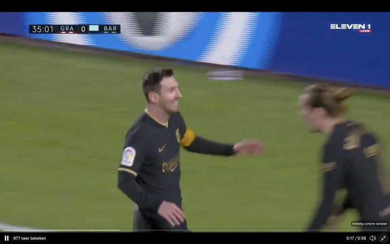 Kijk hier hoe Messi op het veld van Granada monden doet openvallen (VIDEO)